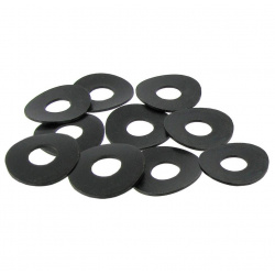 Gegolfde veerringen zwart gegalvaniseerd (10 stuks) 131821150