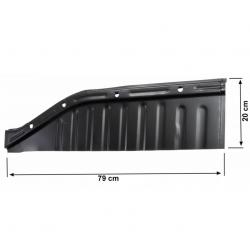 Volkswagen Kever bodemplaat kwart rechts voor 111701060Q