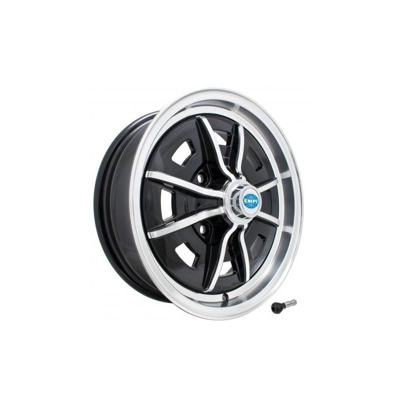Volkswagen Kever Sprintstar velg aluminium gepolijst hoogglans zwart - 1