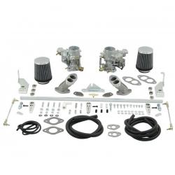 VW Karmann Ghia carburateur set EMPI EPC 34 met inlaatspruitstukken
