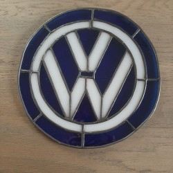 "VW Logo handgemaakt Tiffanystyle  ""Atelier Tineke"""