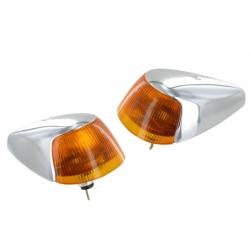VW Kever Richtingaangever units (oranje lens) A-kwal. 113953041J
