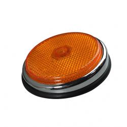 VW T2A zijreflector en rubber vooraan - oranje chroom  211945555