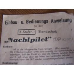 "Antie verblindings scherm "" Nachtpilot "" - 8"