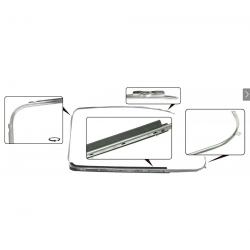 VW Kever 64- Deurruitrubber met sierlijst chroom rechts 113853322D