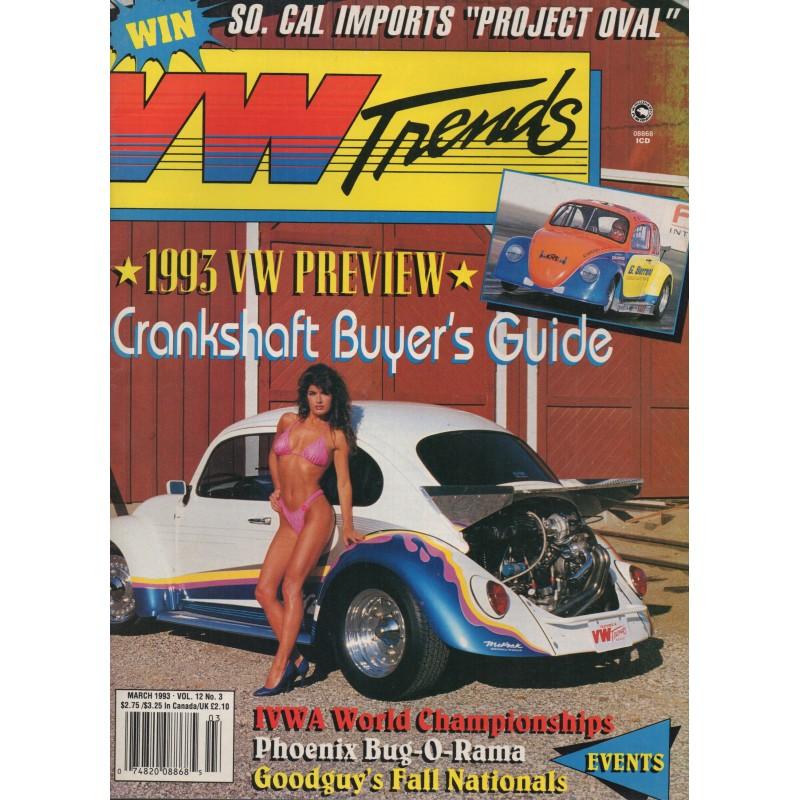 VW TRENDS 1993 - MAART - 1