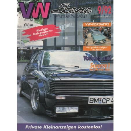 VW SCENE 1992 - 09   **SEPTEMBER** - 1
