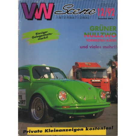 VW SCENE 1992 - 12   **DECEMBER** - 1