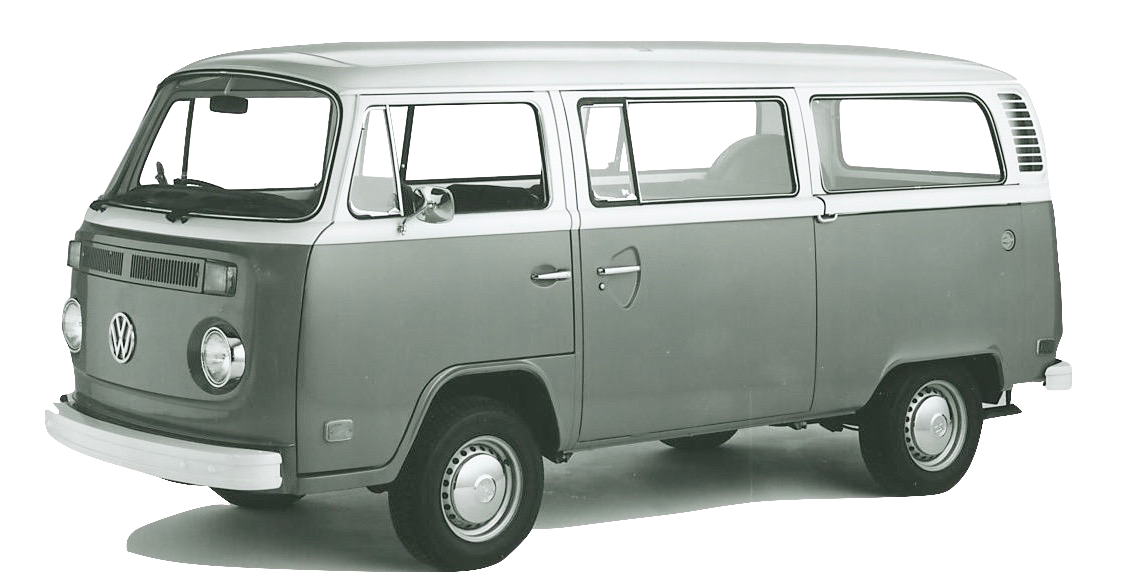 volkswagen T2B silver weld through plaatwerk